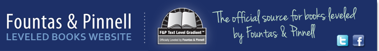 Fountas & Pinnell Leveled Books Website and Text Level Gradient Logos